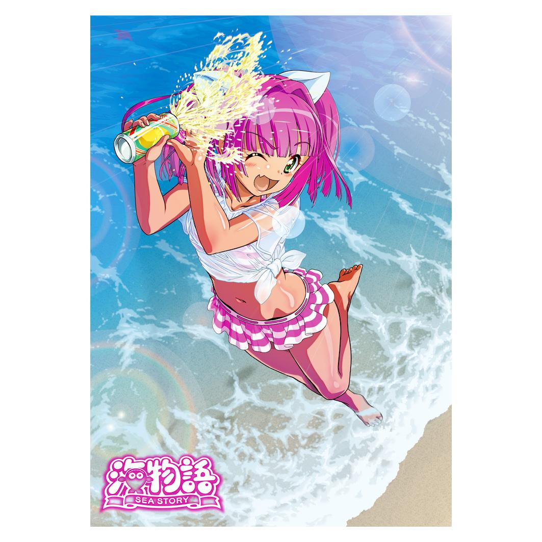 海物語 A3クリアポスター 04 (ウリン/水着Ver.)